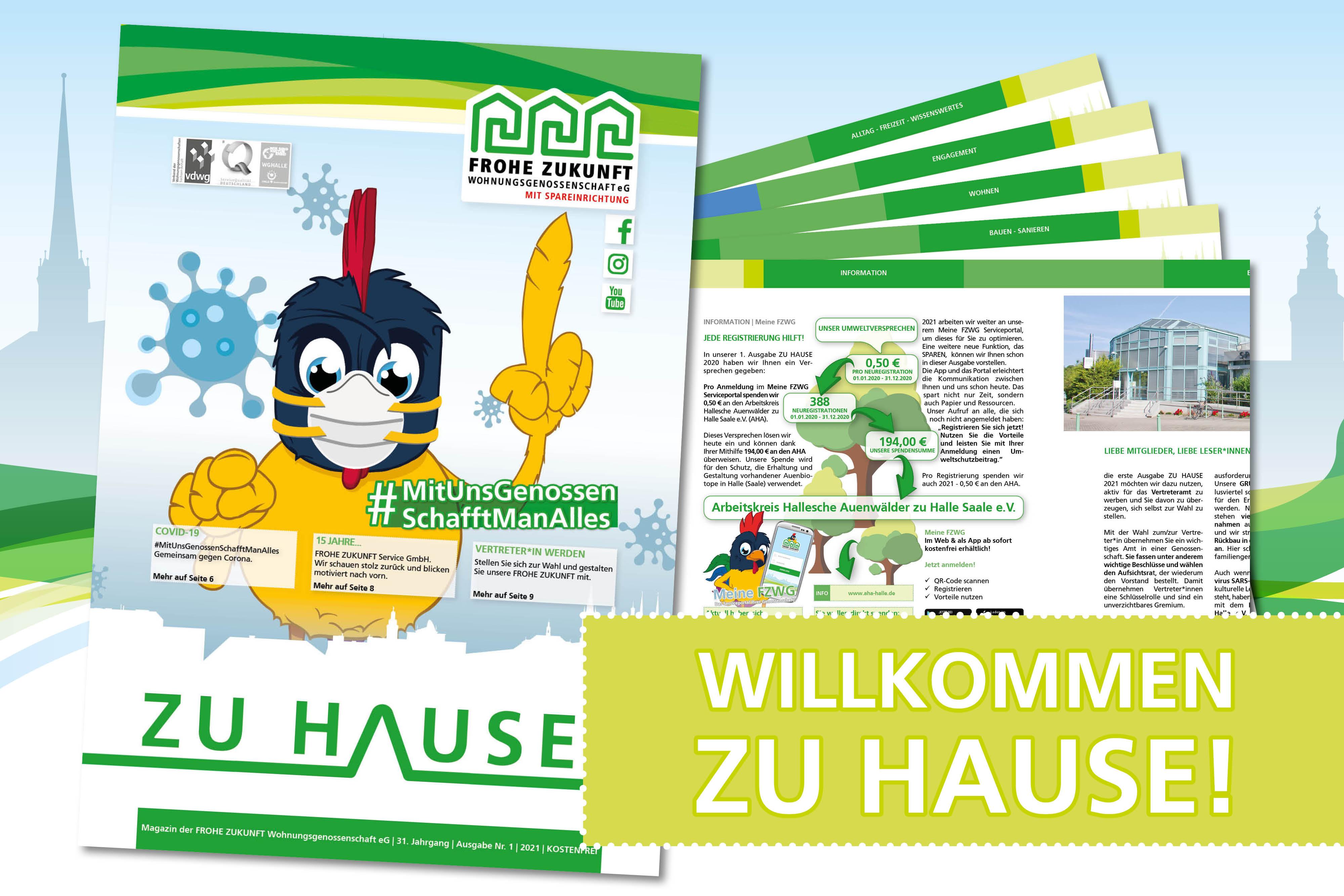 Unsere aktuelle Ausgabe ZU HAUSE